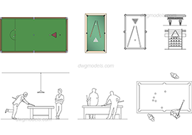 Billiards 1 dwg, cad file download free.