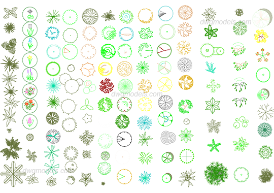 Trees 2 dwg, CAD Blocks, free download.