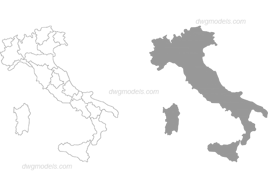 Italy 1 dwg, CAD Blocks, free download.