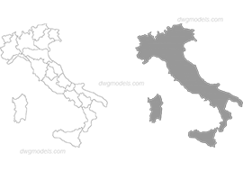 Italy 1 dwg, cad file download free