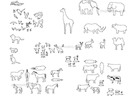 Animals 1 dwg, cad file download free