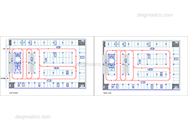 Parking 1 - DWG, CAD Block, drawing.