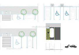 Parking 3 - DWG, CAD Block, drawing.
