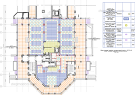 Hotel 2. Floor plan L1 free dwg model
