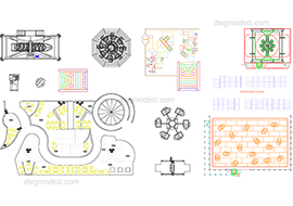 Attractions 1 - DWG, CAD Block, drawing
