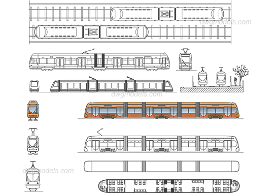 Tram 1 Dwg Free Cad Blocks Download