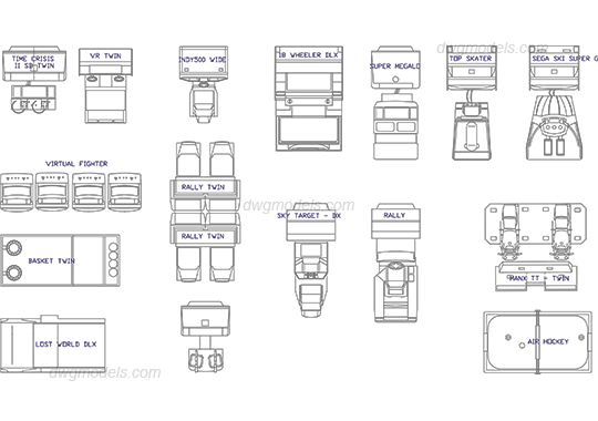 Game equipment 1 dwg, CAD Blocks, free download.