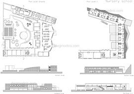 Kindergarten 1 dwg, cad file download free.