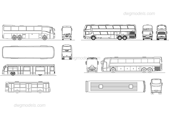 Bus 1 Dwg Free Cad Blocks Download