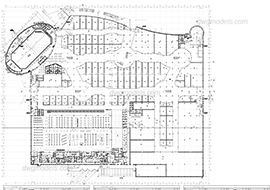 Shopping mall 1. Level Ground - DWG, CAD Block, drawing.