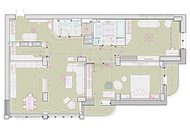 Apartment 1 - DWG, CAD Block, drawing