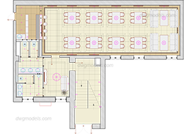 Cafe 1 - DWG, CAD Block, drawing.