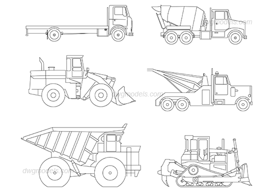 Vehicles 1 dwg, CAD Blocks, free download.