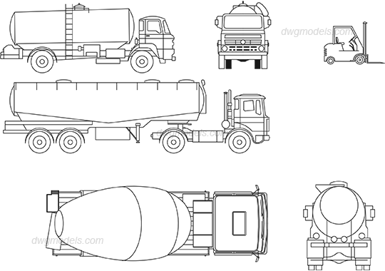 Vehicles 2 dwg, CAD Blocks, free download.