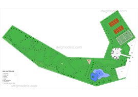 Golf 1 dwg, cad file download free.