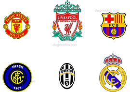 Football club logos - DWG, CAD Block, drawing