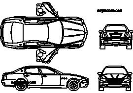 Maserati Quattroporte 2012 - DWG, CAD Block, drawing.