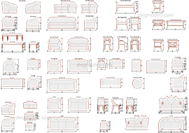 Furniture for hotels 2 free dwg model