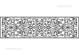Decorative pattern free dwg model