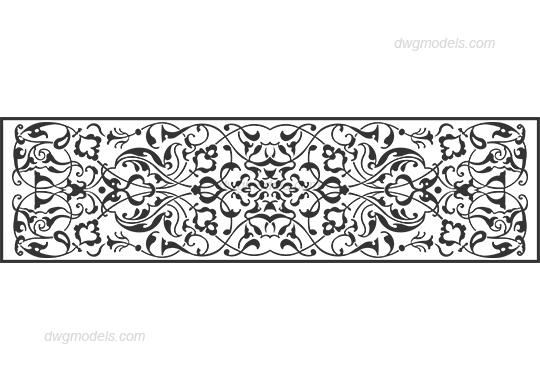 Decorative pattern dwg, CAD Blocks, free download.