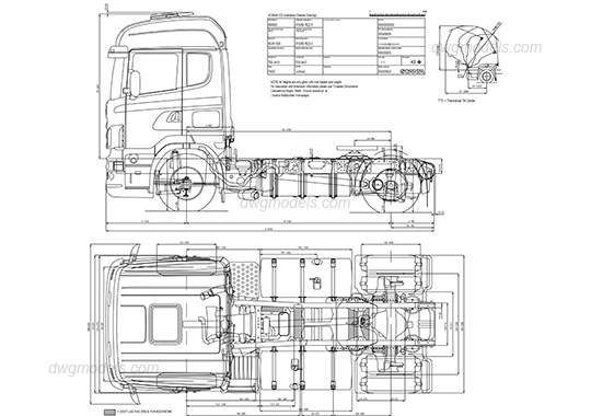 Scania truck dwg, CAD Blocks, free download.