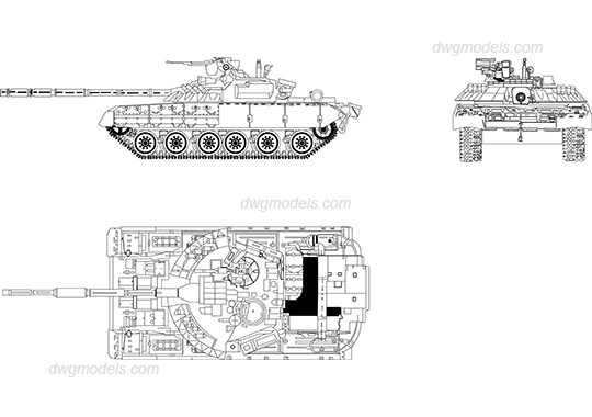 Tank dwg, CAD Blocks, free download.