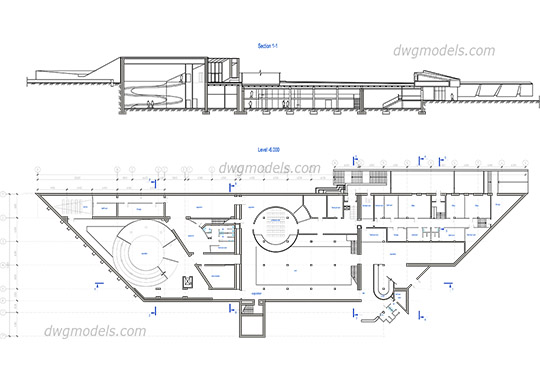 Historical Museum dwg, cad file download free