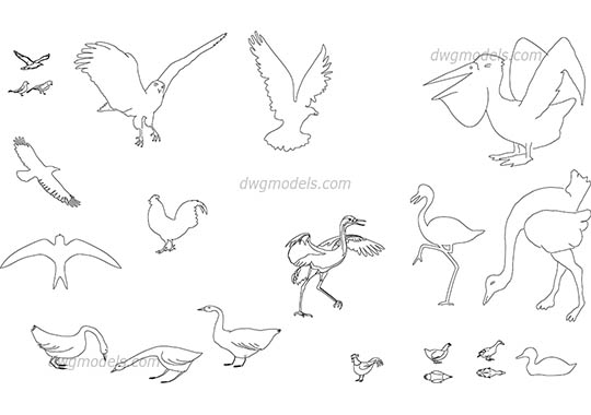 Animals Dwg Models Free Download