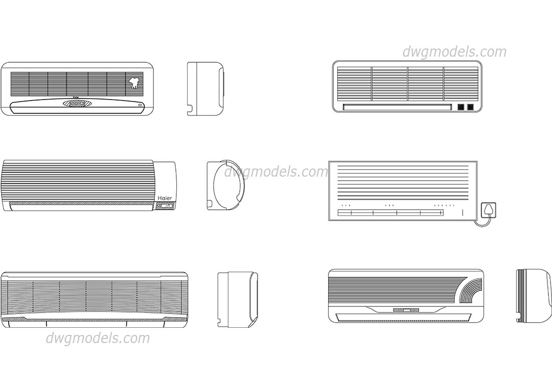 Air conditioning dwg, CAD Blocks, free download.