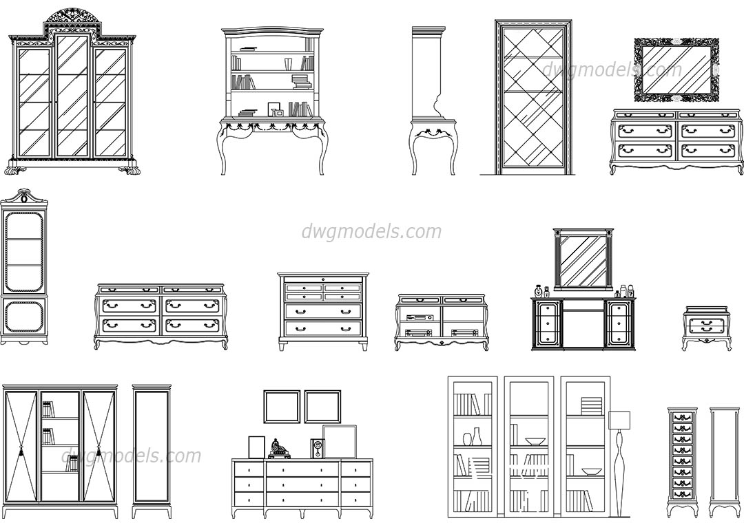 Dresser Cad Drawing Bestdressers 2019