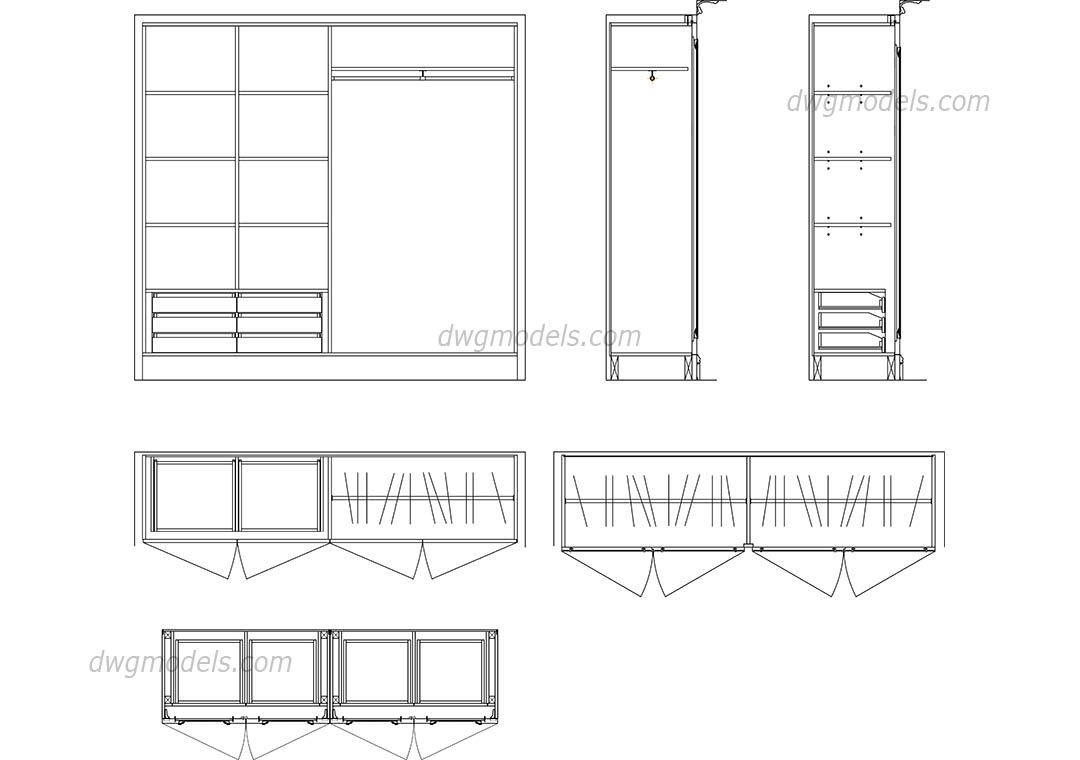 Wardrobe Details Dwg Free Cad Blocks Download