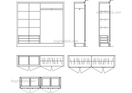 Wardrobe 2 DWG, free CAD Blocks download