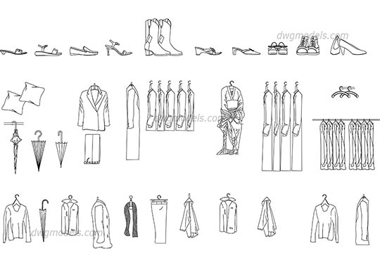 Clothes dwg, cad file download free.