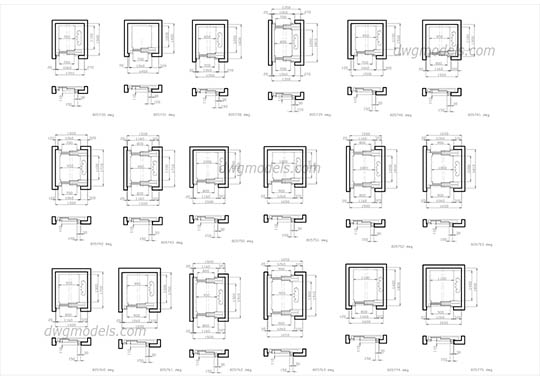 Elevators Kone. Part 1 free dwg model