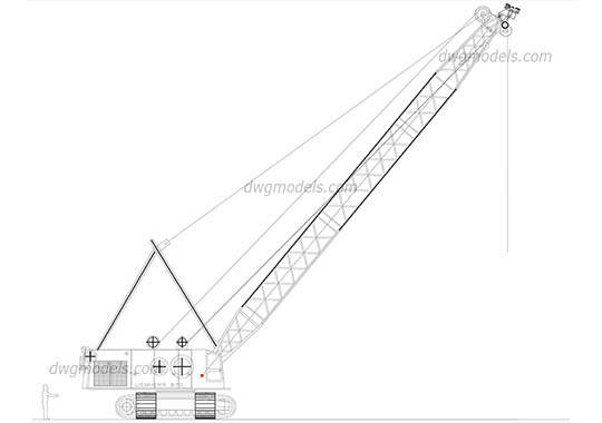 Liebherr 870 - DWG, CAD Block, drawing.