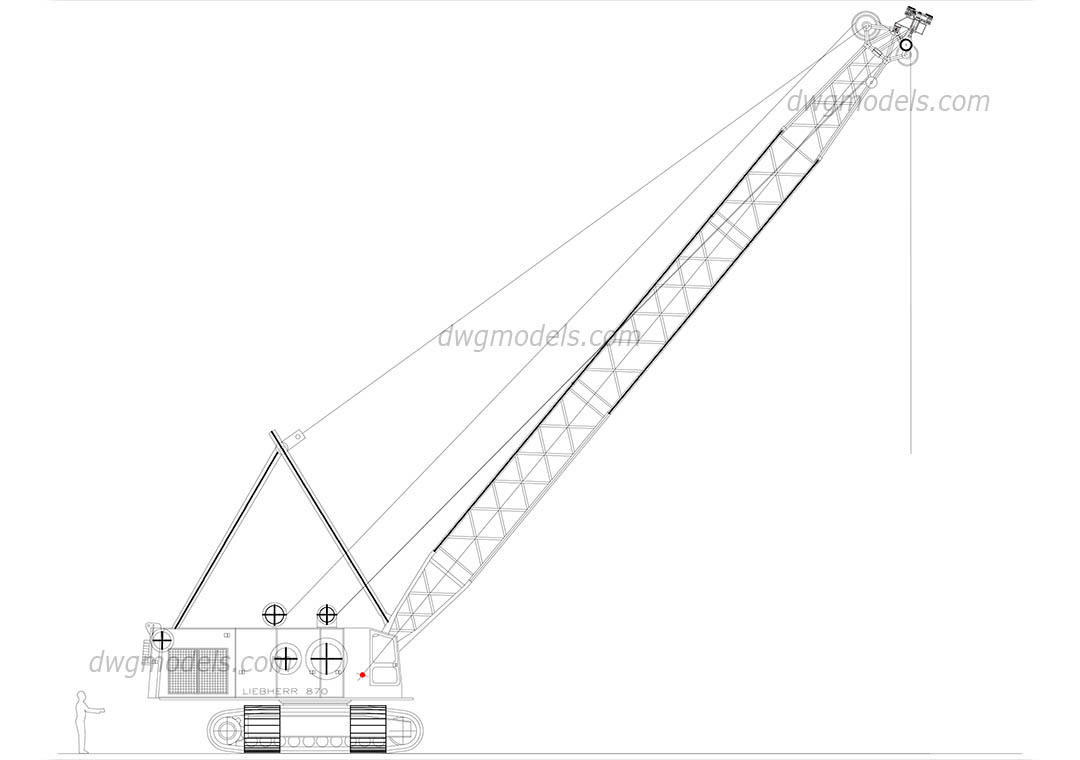 Liebherr 870 dwg, CAD Blocks, free download.
