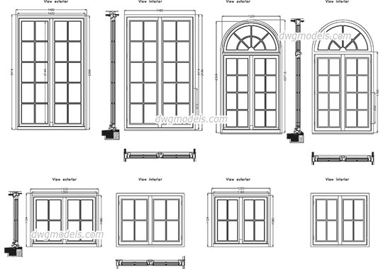 Detailed window - DWG, CAD Block, drawing.