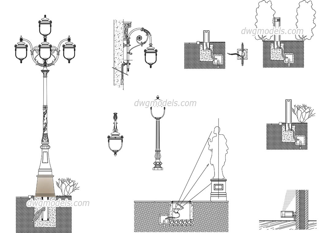 Urban Lighting Design Dwg Free Cad Blocks Download