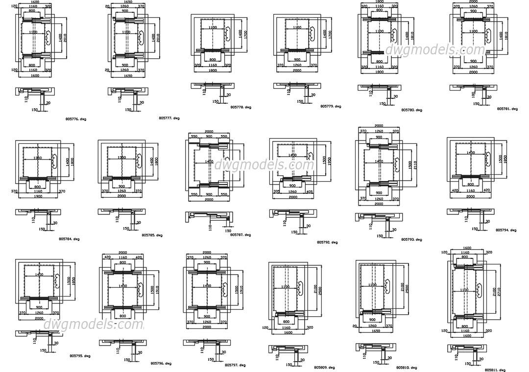 Elevators Kone Part 2 Dwg Free Cad Blocks Download