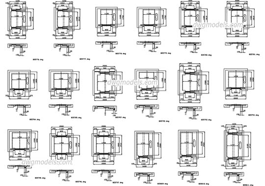 Elevators Kone. Part 2 free dwg model