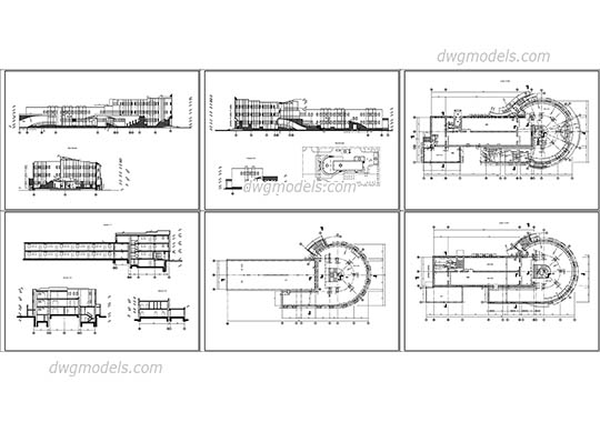 Shopping center dwg, cad file download free.