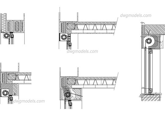 Roller shutters - DWG, CAD Block, drawing.