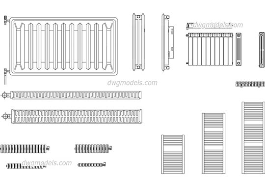 Radiators free dwg model