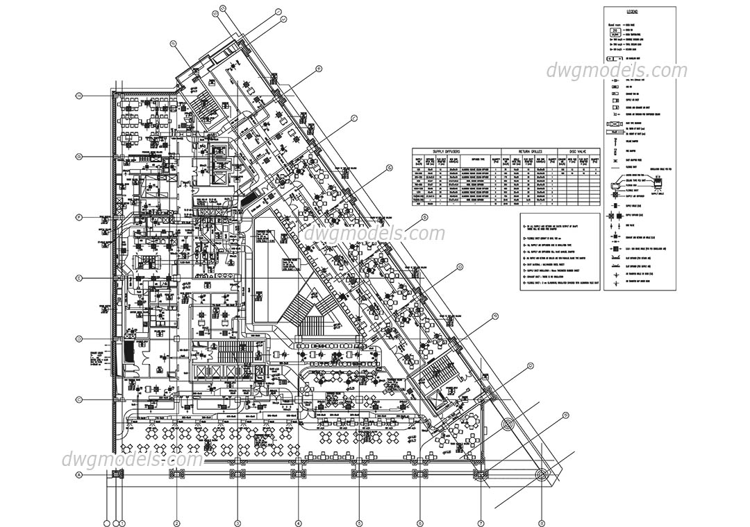 system of ventilation dwg  free cad blocks download