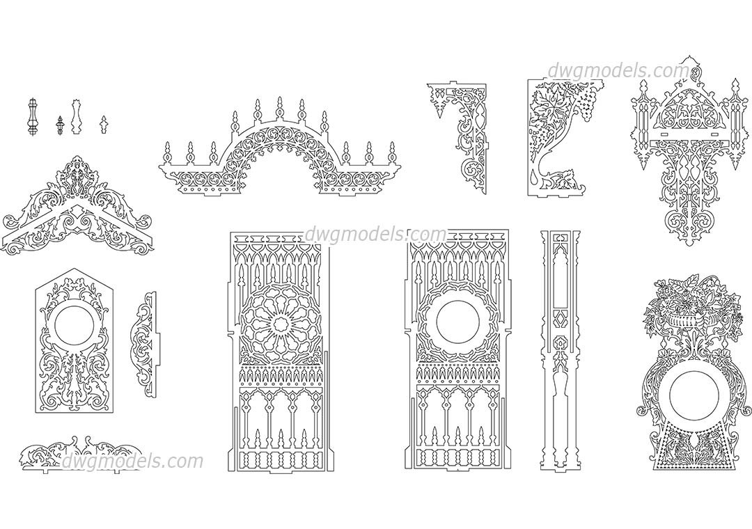 Decorative pattern 2 dwg, CAD Blocks, free download.