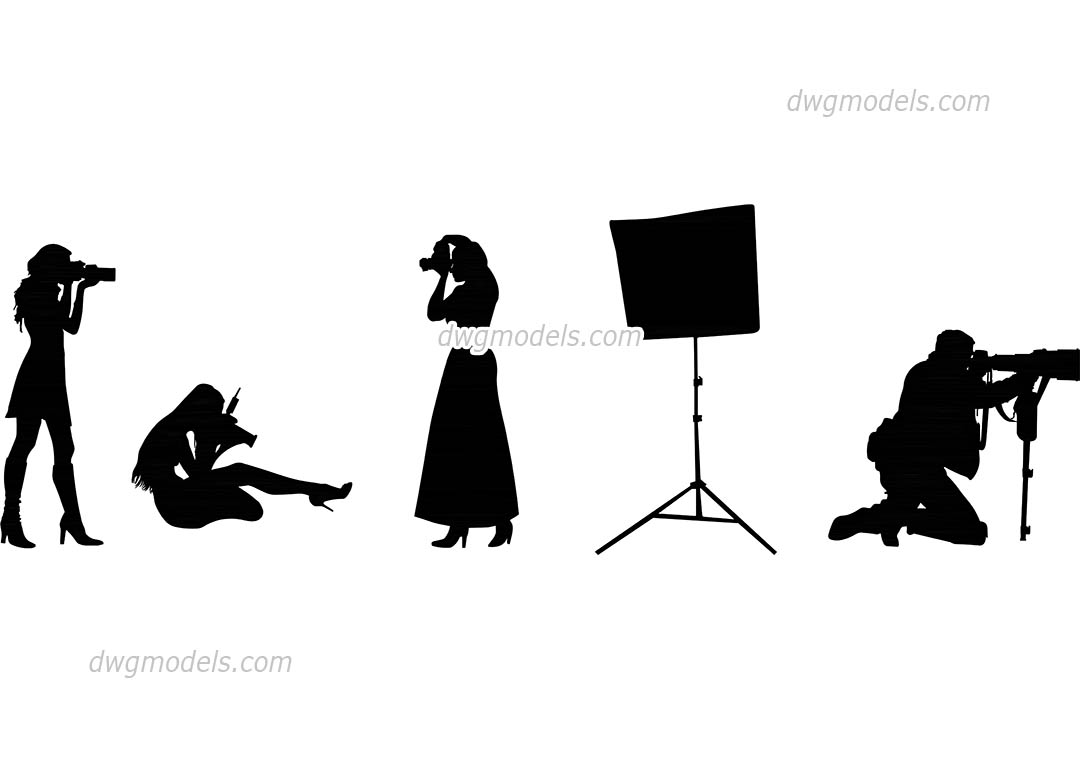 People photographers dwg, CAD Blocks, free download.