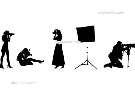 People photographers - DWG, CAD Block, drawing