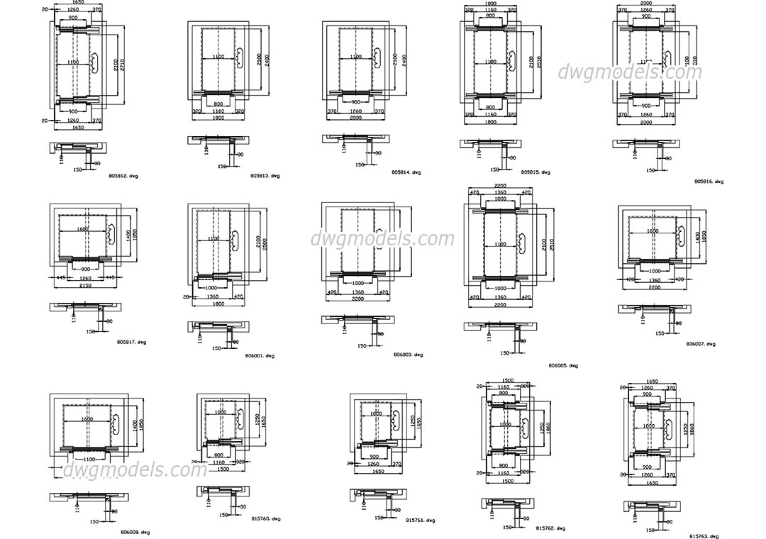 Elevators Kone Part 3 DWG Free CAD Blocks Download
