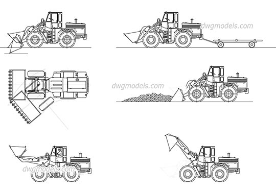Construction machines free dwg model
