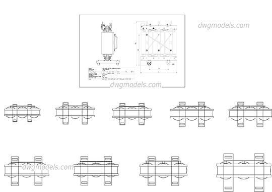 Transformer Legrand-Zucchinii - DWG, CAD Block, drawing.